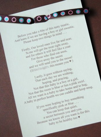 baby gender reveal poem