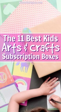 Art subscription box for kids | craft subscription box for kids | Decorating present for kids birthday with craft paper.
