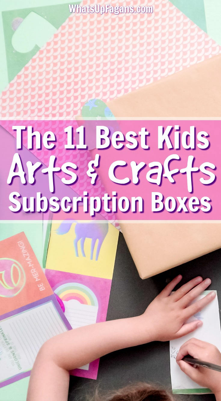 11 Monthly Arts & Crafts Boxes for Kids Guaranteed to Help Creativity!! Great subscription box options for those artistic children. #artsandcrafts #arts #crafts #craftbox #artbox #kidscrafts #kidcrafts #kids #subscriptionbox #christmas #holiday #giftidea #gifts