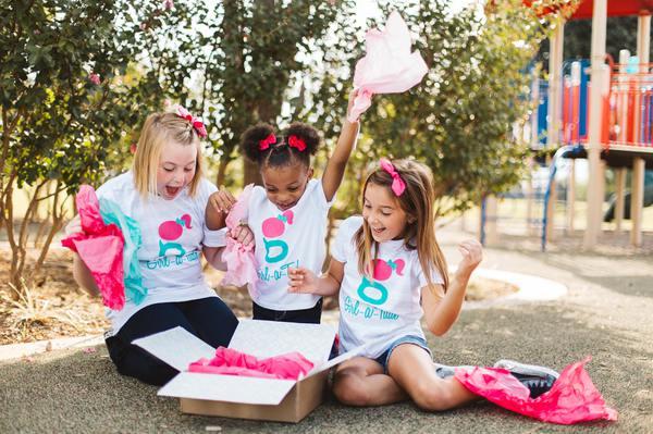 girl clothing subscription box - Girl-a-tude opening box