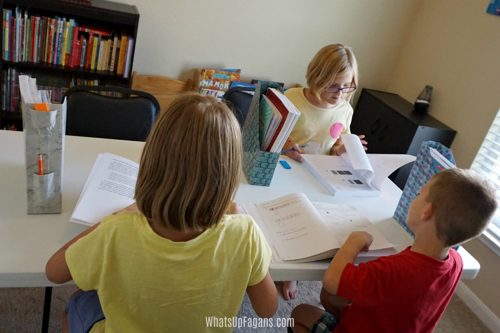homeschooling in small space - organization ideas for teaching several children in small space - homeschool room design