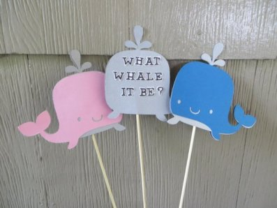 what whale it be gender reveal centerpiece
