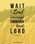 Positive affirmation scriptures - Psalm 27_14
