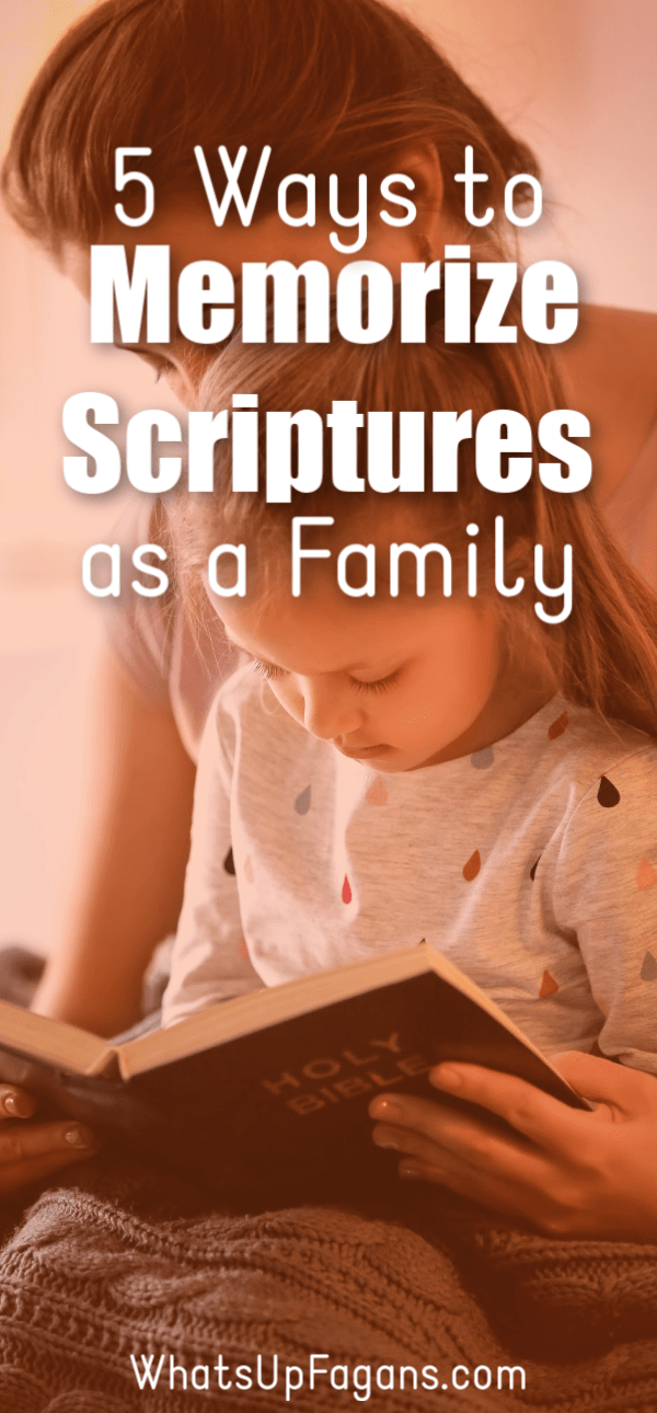 Great ideas on memorizing scripture as a family! Tips for different types of learning styles and how you can meet everyone's need as you figure out how to memorize scripture with your children, kids, and for yourself. #scriptures #memorize #scripturemastery #bible #bibleverse #bibleverses #Christian #Christianfamily #biblestudy #scripturememory