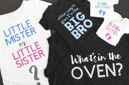 DIY gender reveal shirts