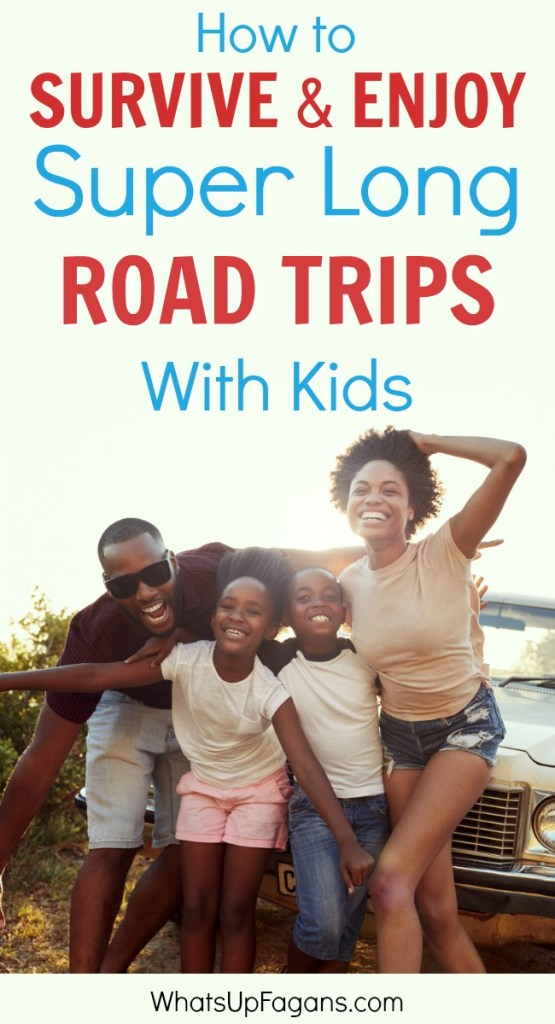 If you are planning a cross-country road trip with kids, you will love these tips for long road trips with kids! I polled others who have done it and asked for their best advice for even month-long road trips with toddlers and children.