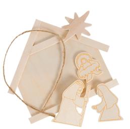 DIY Nativity craft kit wood ornament