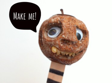 shrunken apple heads Halloween science activity