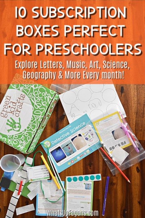 10 monthly subscription boxes for preschoolers - explore letter music art science geography and more every month with your 3 or 4 year old preschool child.