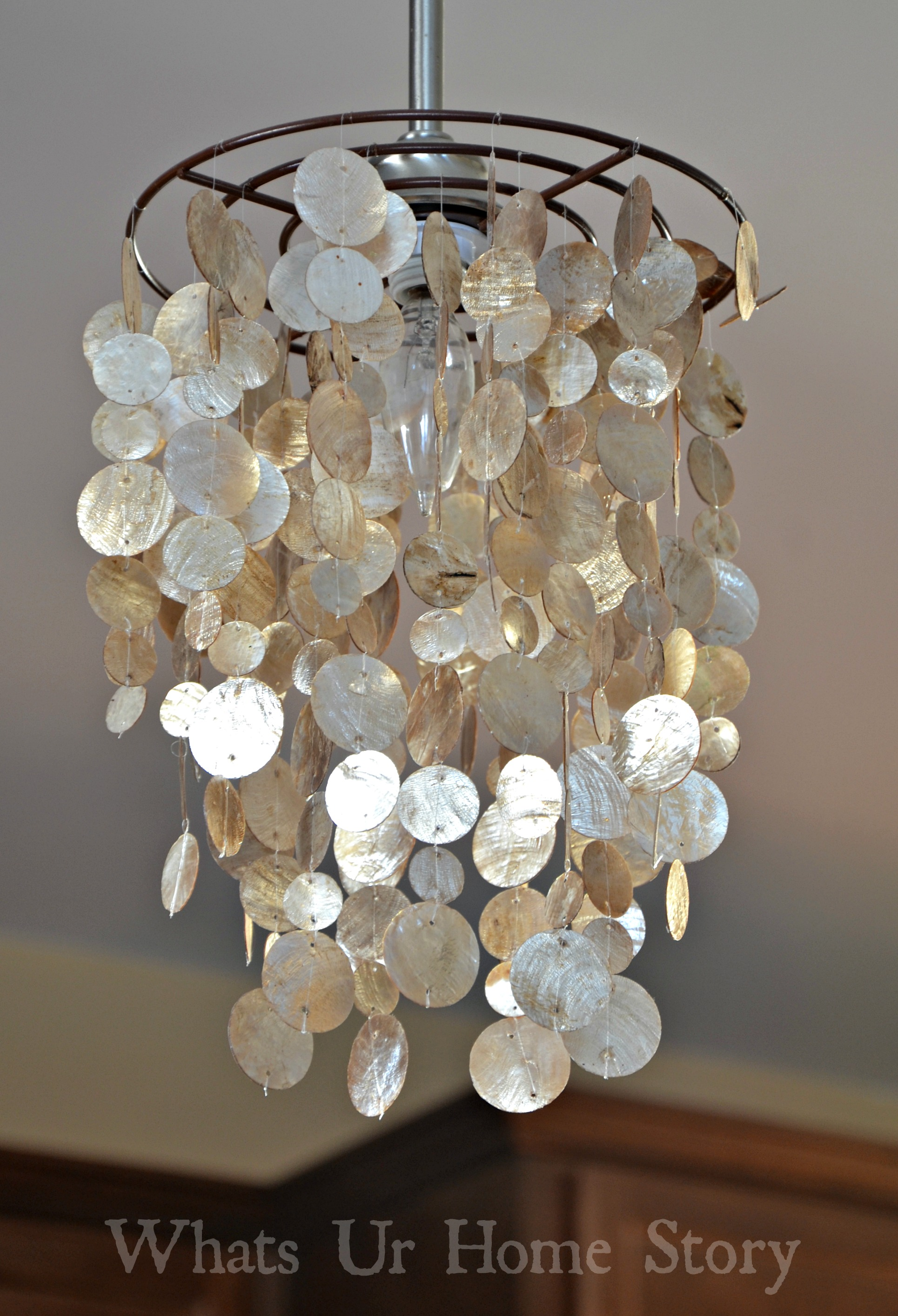 diy capiz chandelier