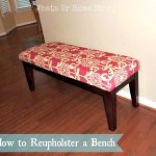 Bench makeover,reupholster furniture