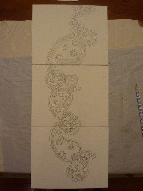 DIY Paisley Pattern Art for $5!