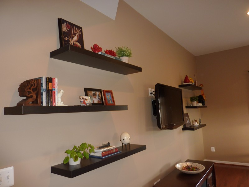 Floating Shelves how to decorate around a tv with floating shelves | whats ur home
