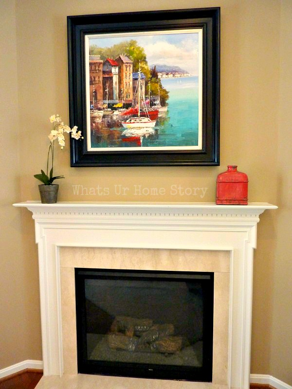 - Simple Fireplace Mantel Decor
