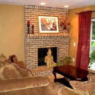 brick fireplace decor