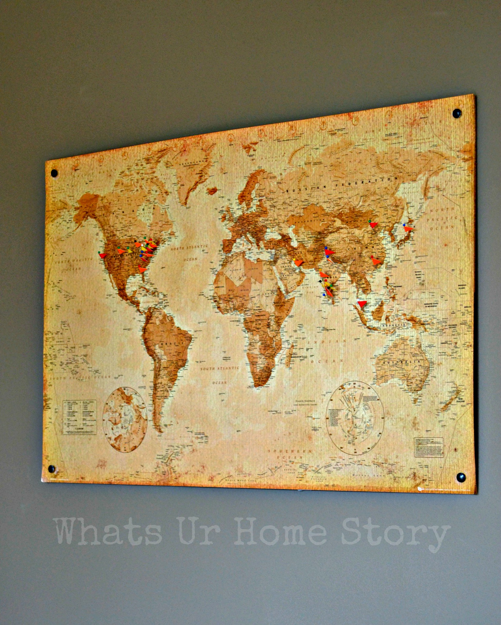Diy cork board map whats ur home story gumiabroncs Choice Image