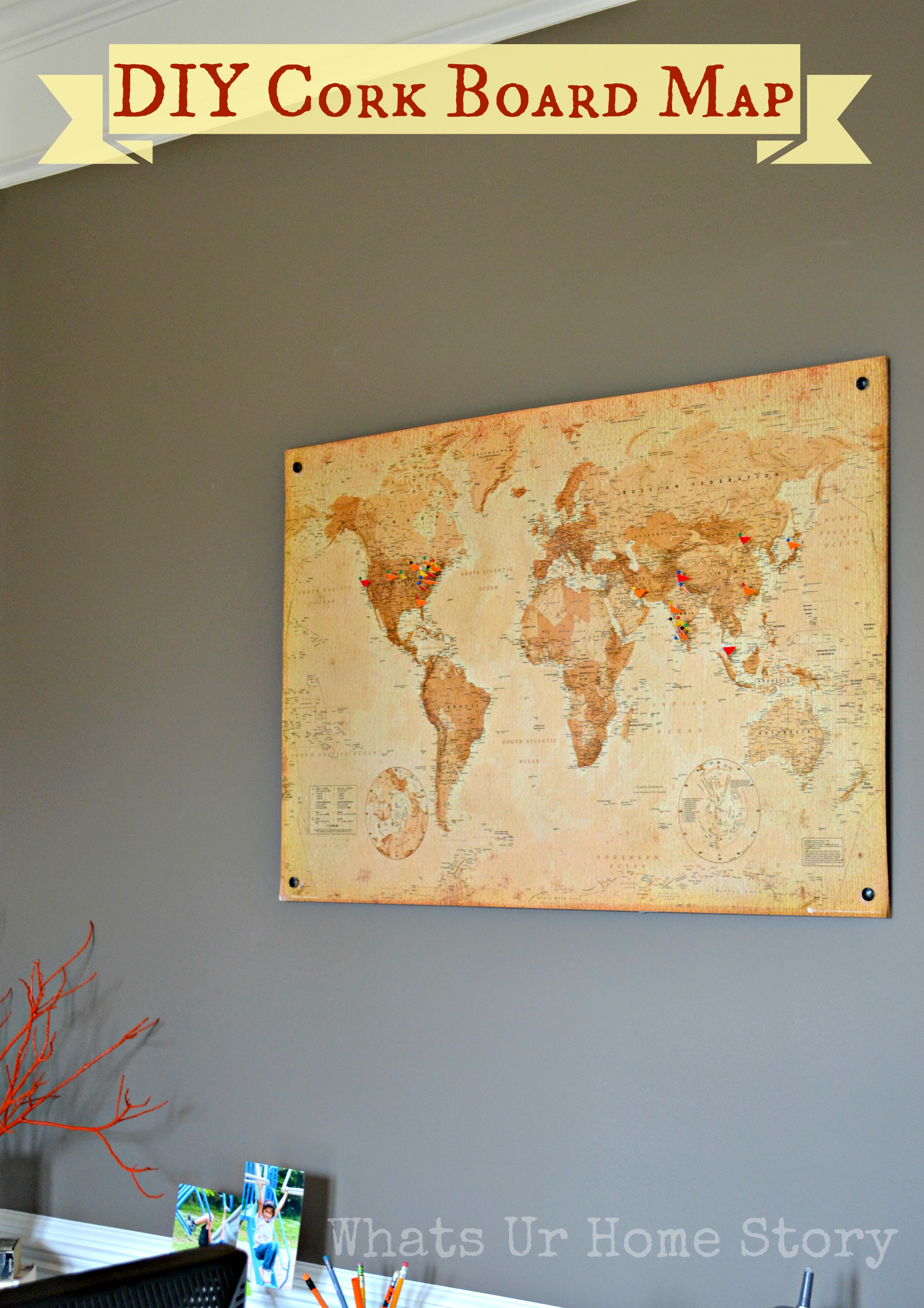 Diy cork board map whats ur home story diy cork board map gumiabroncs