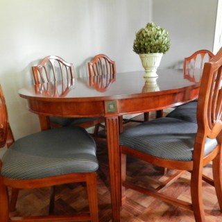 Cherry Dining Table and Shield back chairs