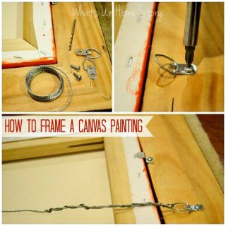 How to frame a canvas print,
