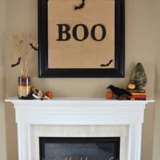 Whats Ur Home Story: Easy fall mantel decor