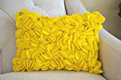 Felt Circle Pillow