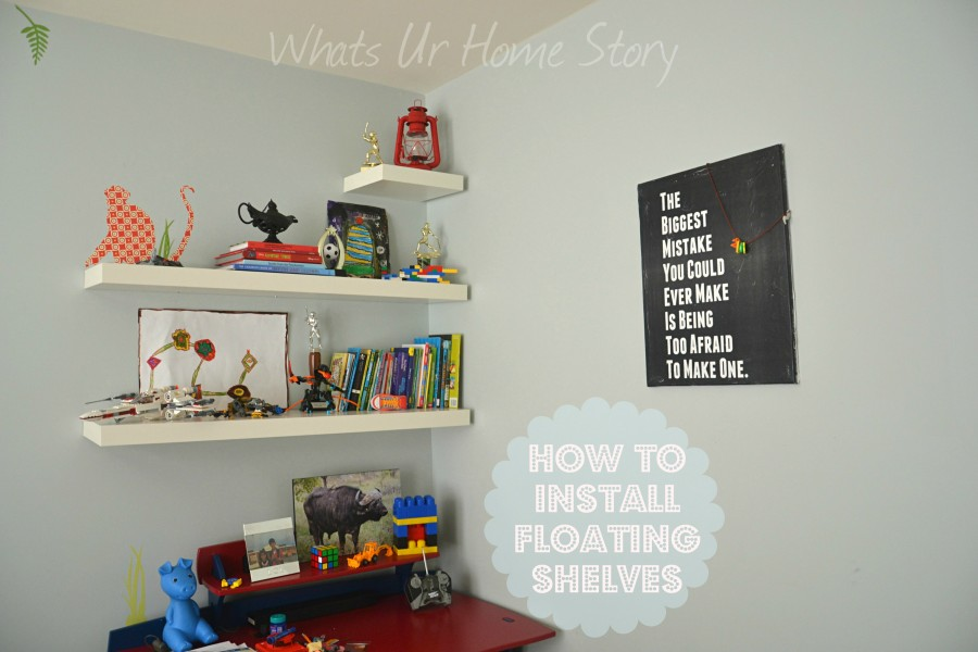 How to Hang IKEA LACK Floating Shelf | Whats Ur Home Story