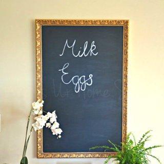 DIY chalkboard, DIY chalkboard tutorial, chalkboard from mirror, chalkboard diy
