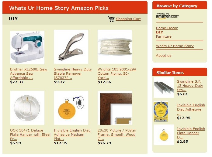 Whats Ur Home Story Amazon Store