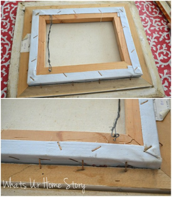 Easy Way to Frame a Canvas Picture