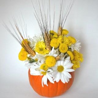 Pumpkin Floral Centerpiece, Easy Thanksgiving Centerpiece, Pumpkin Holiday centerpiece