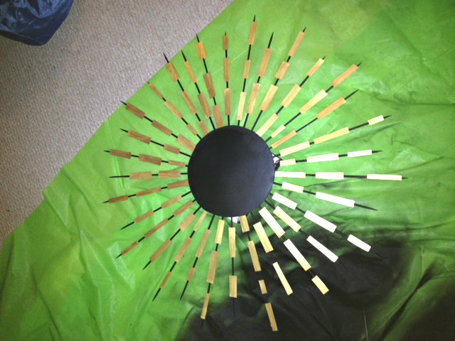 Bamboo Skewer Sunburst Mirror