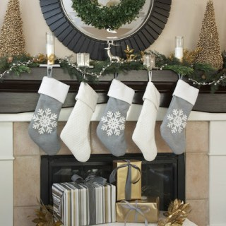 Gold and Silver Christmas Mantel, Christmas mantle