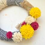 Felt Flowers Fabric Scraps Spring Wreath Whats Ur Home Story
