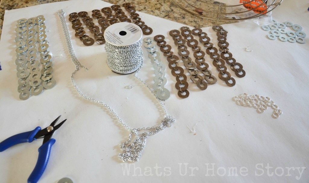DIY Flat Washer Chandelier