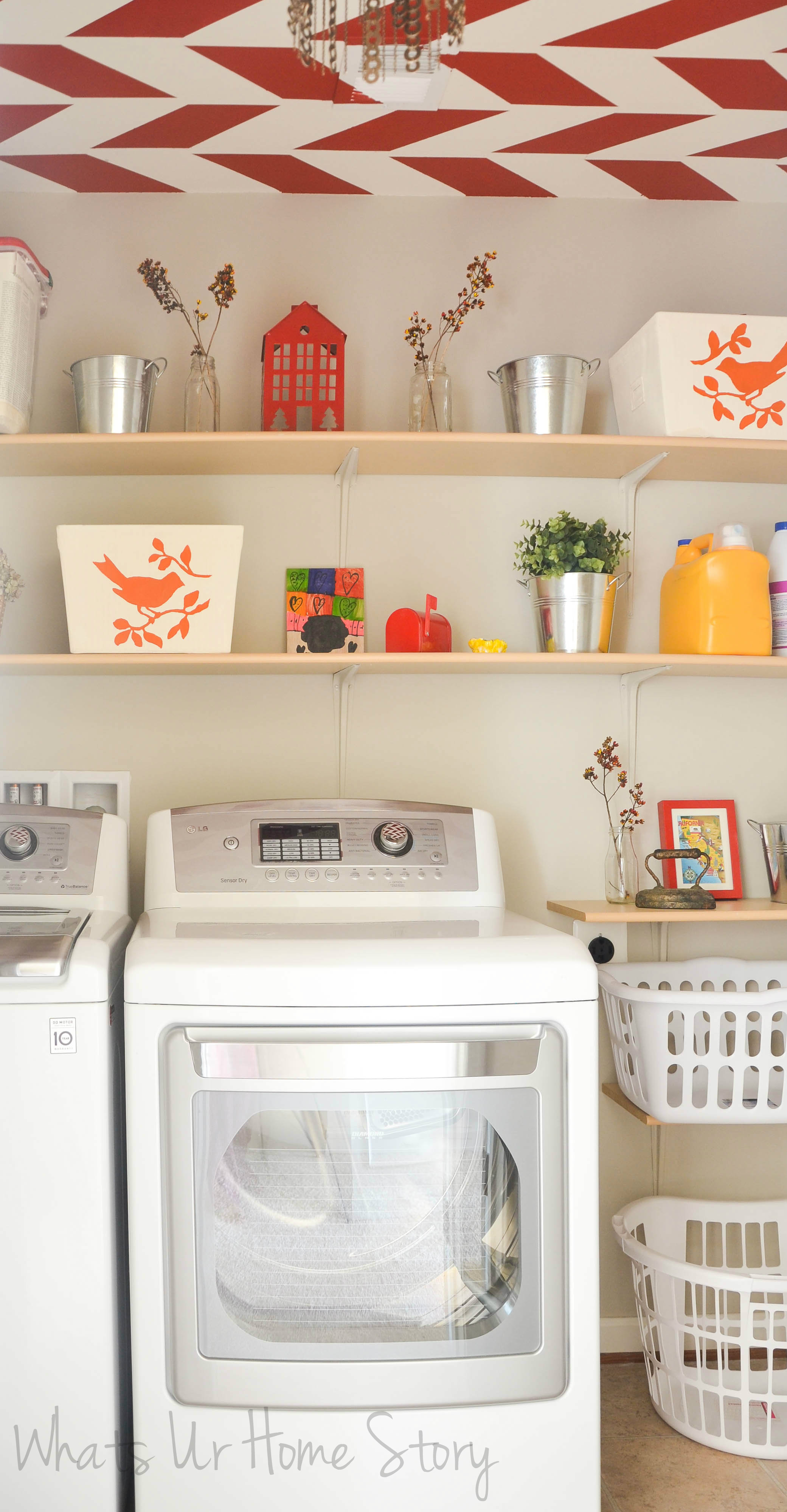 Superb Laundry Room Fabric Part - 8: Fabric Bin Makeover With Chalk Paint