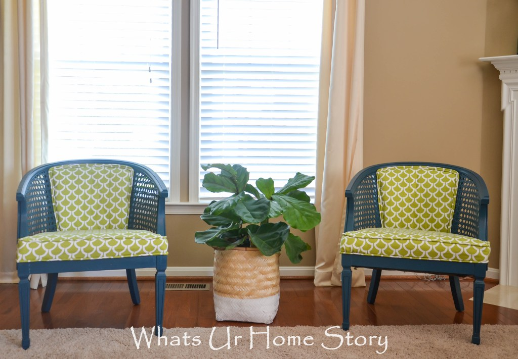 Cane Chair Makeover Reveal