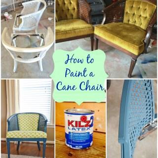 paint a cane chair