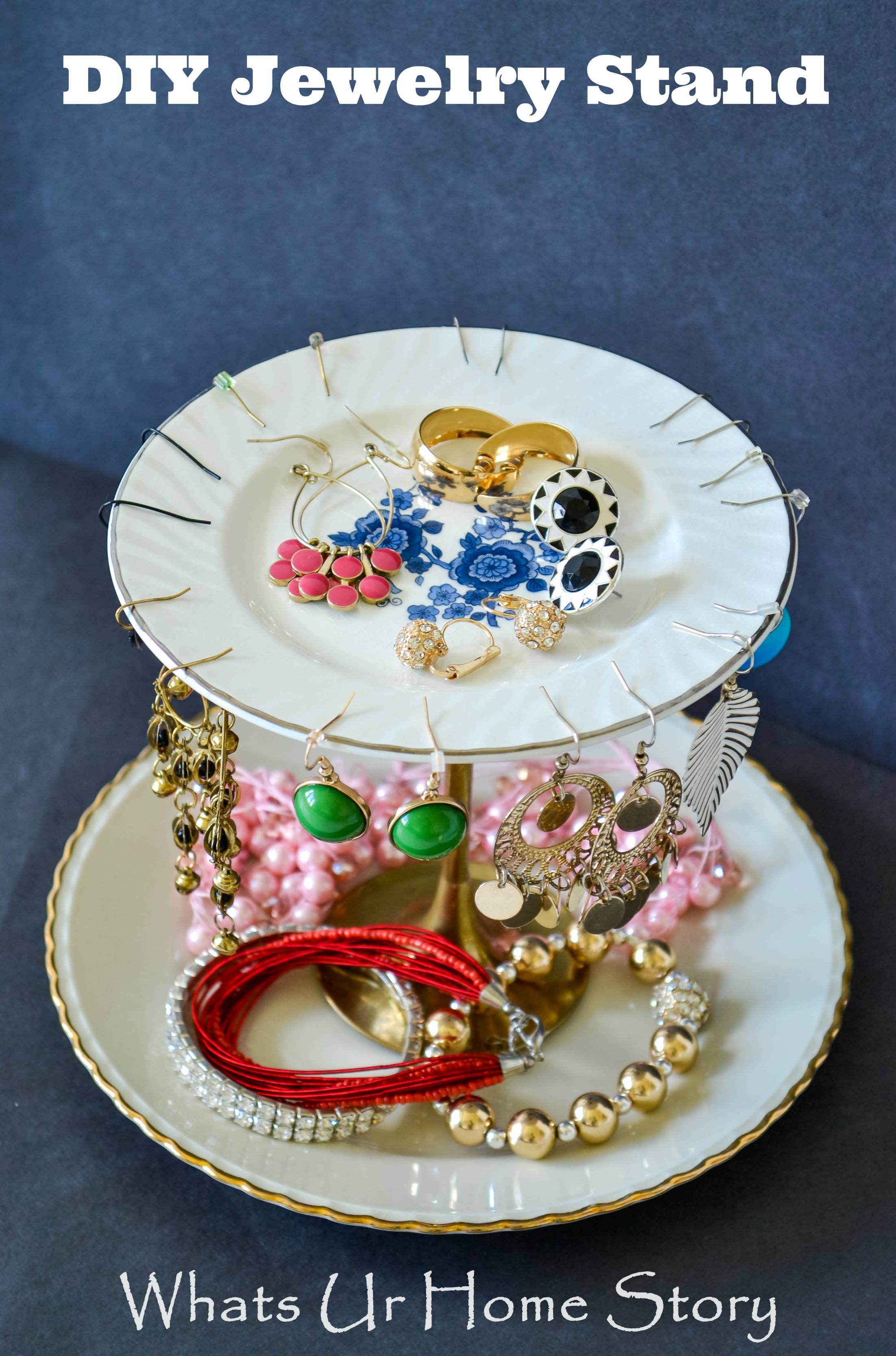 Tiered Jewelry Stand & Tiered Jewelry Stand | Whats Ur Home Story