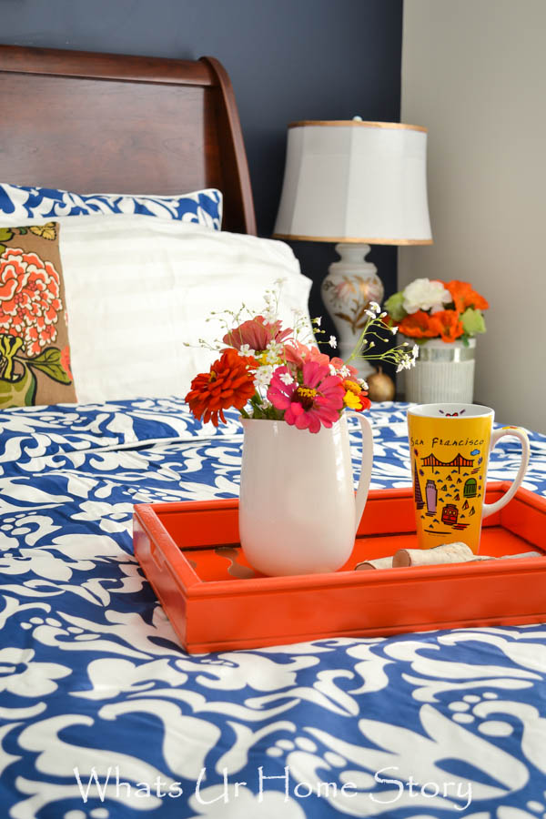 Navy And Coral Bedroom Part 92