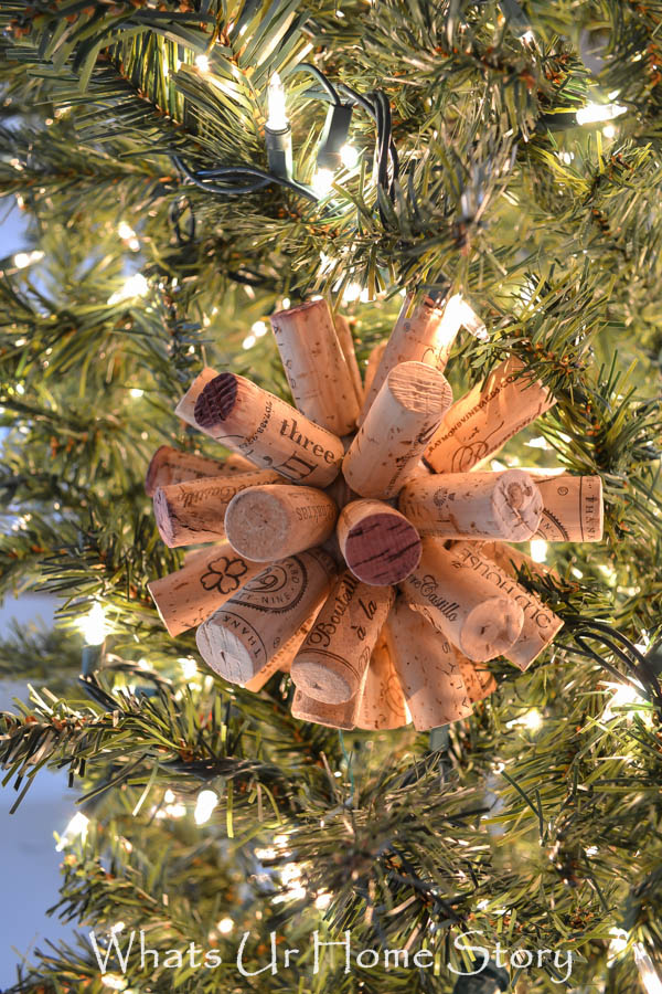 Easy Wine Cork Craft   Cork Ball Ornament