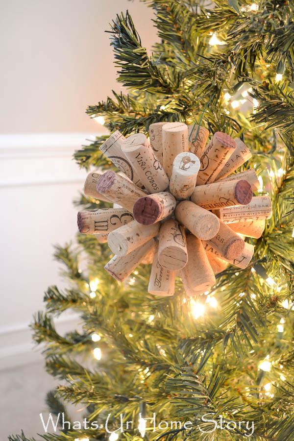 Easy Wine Cork Craft Cork Ball Ornament
