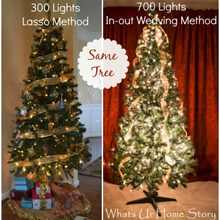 How to Hang Christmas Tree Lights the Stress Free Way