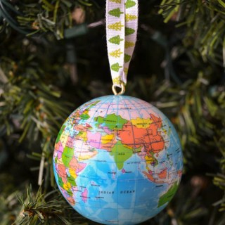 How to make a globe ornament