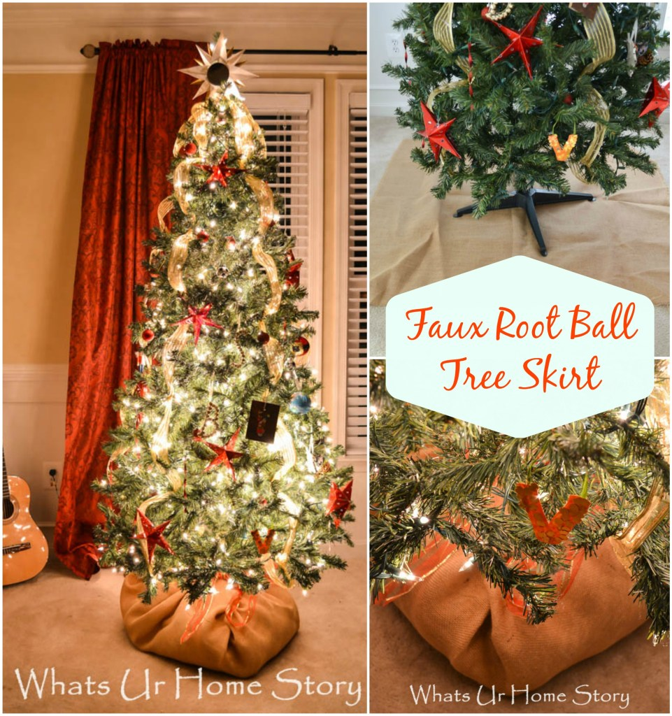 Burlap Covered Faux Root Ball Tree Skirt