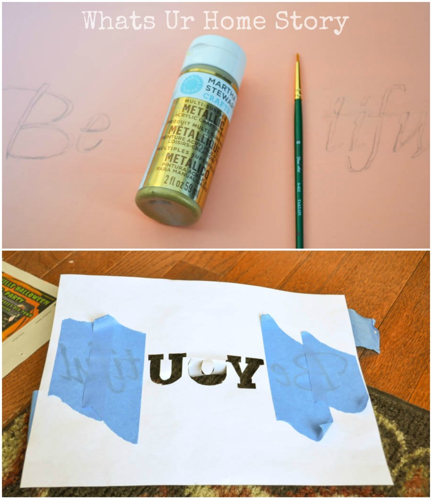 DIY Beyoutiful Sign