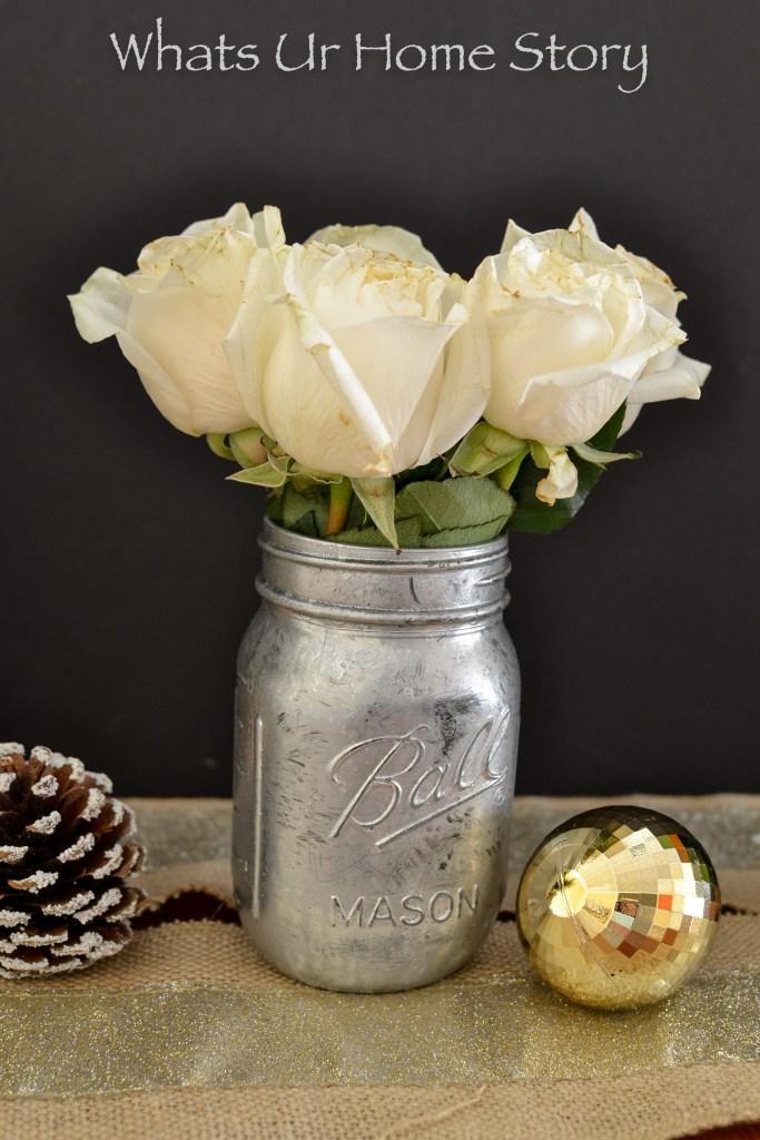DIY Mercury Glass Vase