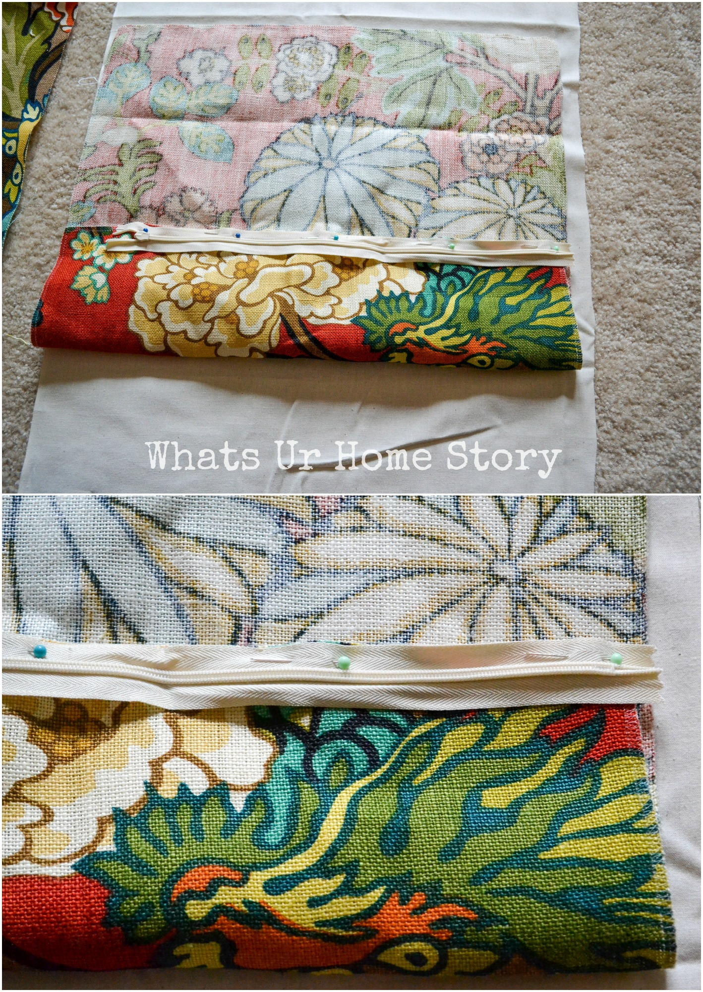 How to Make a Pillow Cover with Invisible Zipper & How to Make a Pillow Cover with Invisible Zipper | Whats Ur Home Story pillowsntoast.com