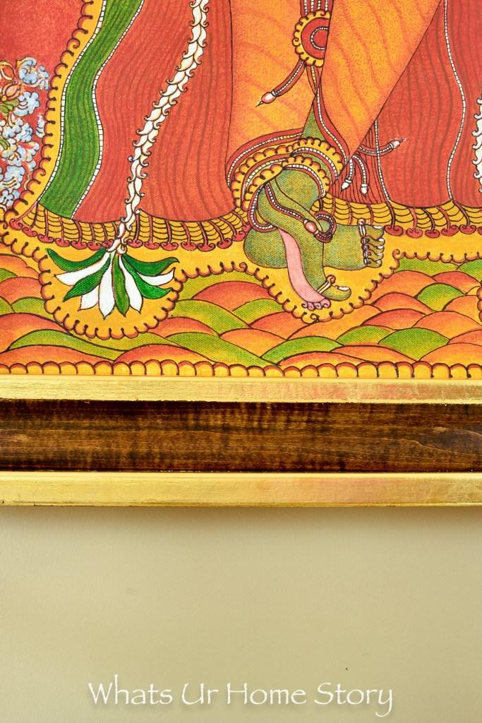 My Moms Krishna Mural Painting & a DIY Frame