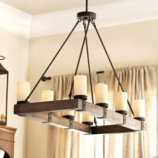 arturo  light rectangular chandelier ballard