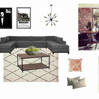 Basement Family Room Mood Board